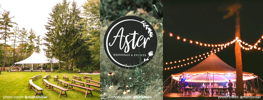 Aster Weddings and Events - Daytime, Nighttime, andlogo