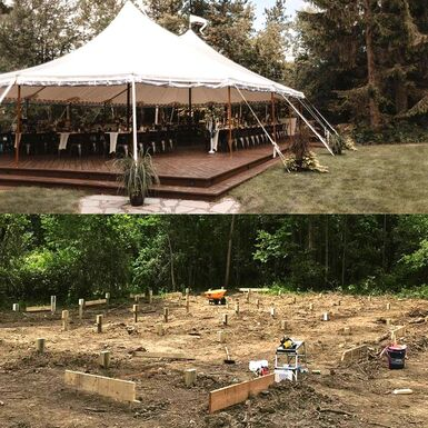 Aster Weddings and Events - Building before and after