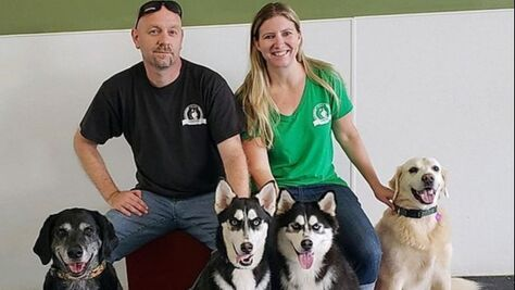 ustin's Canine Campus owners Justin Bonn and Carrie Lindley